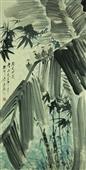 0172 唐云 竹雀芭蕉
