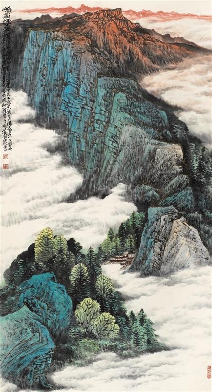 0368   蒋维德  峨眉烟云图片