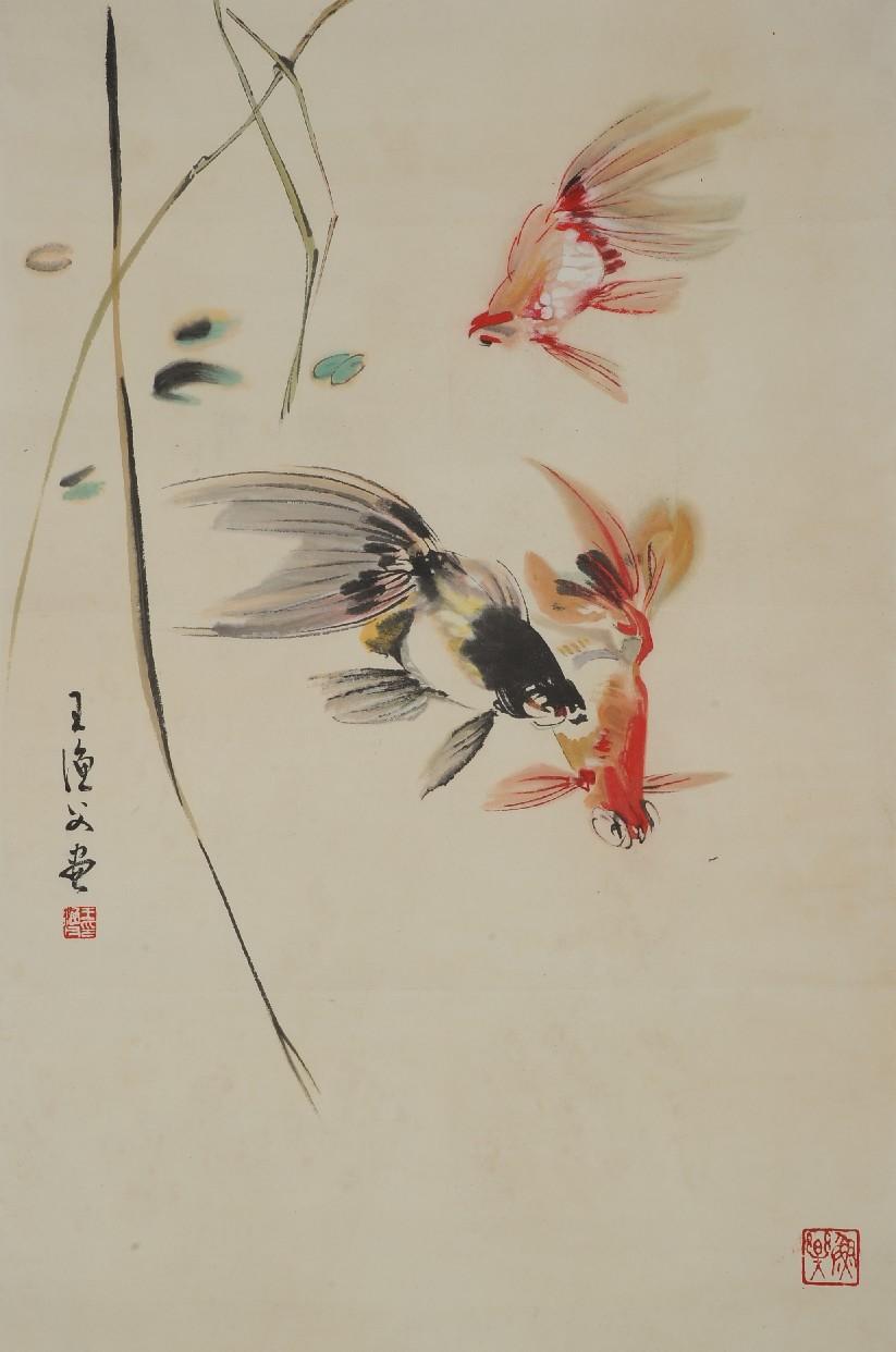 金鱼铅笔盒手绘图