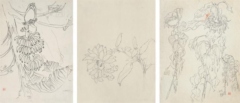 杜显清-花卉动物速写稿作品成交价:10080元