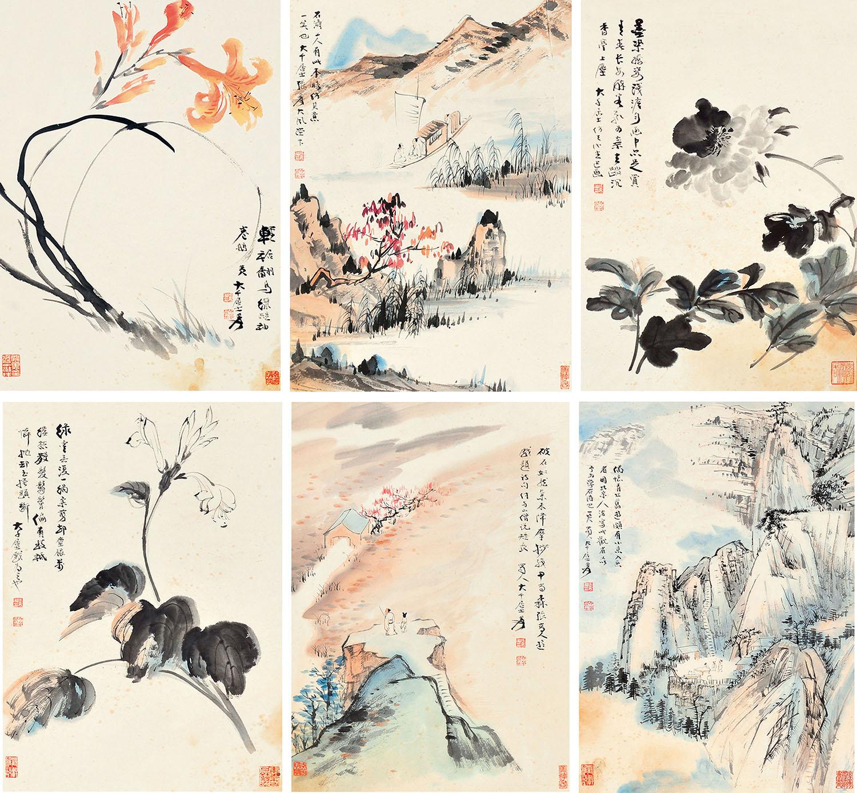 张大千-山水花卉作品拍卖预展