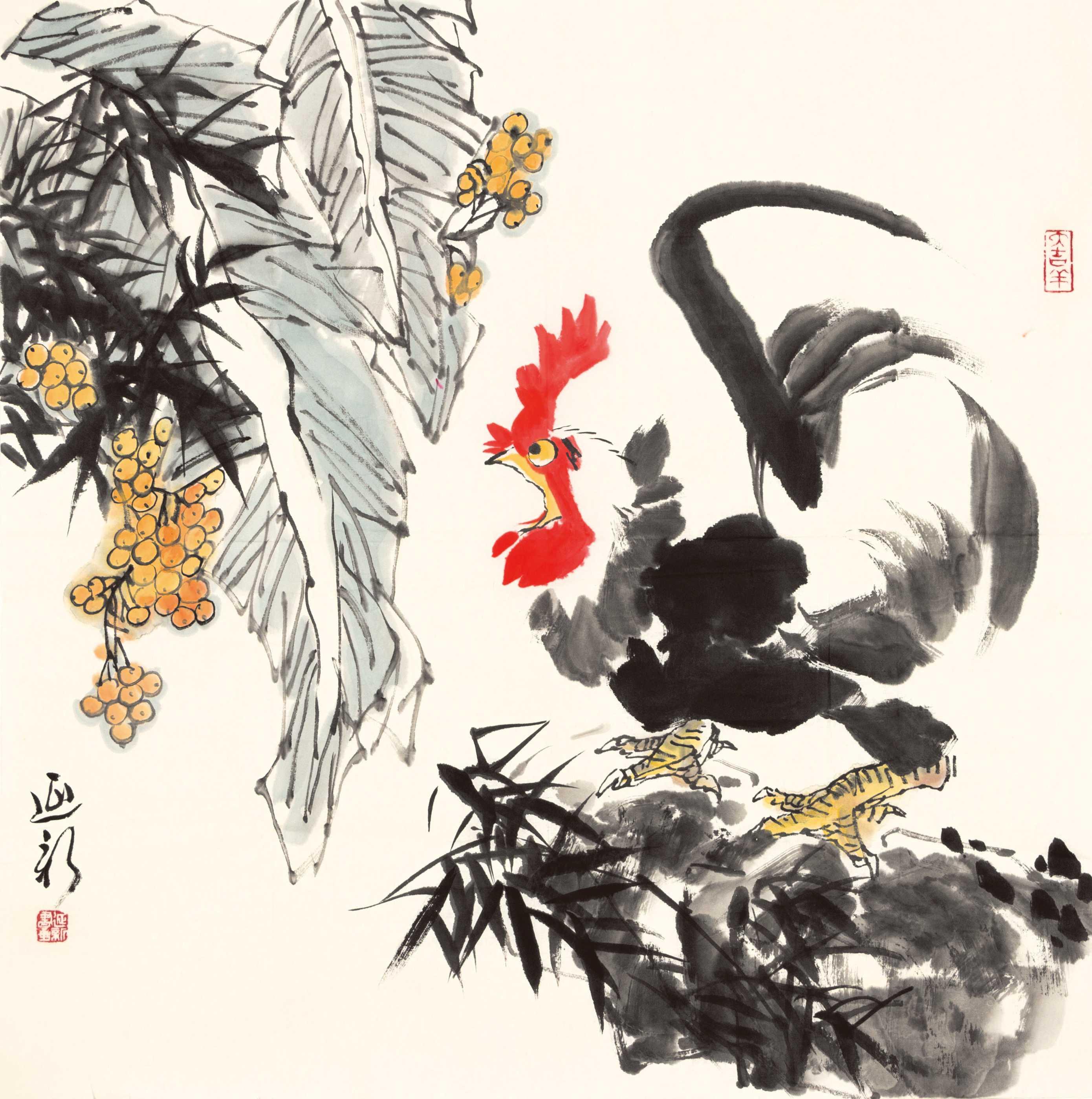 0937   尹延新  雄鸡图片