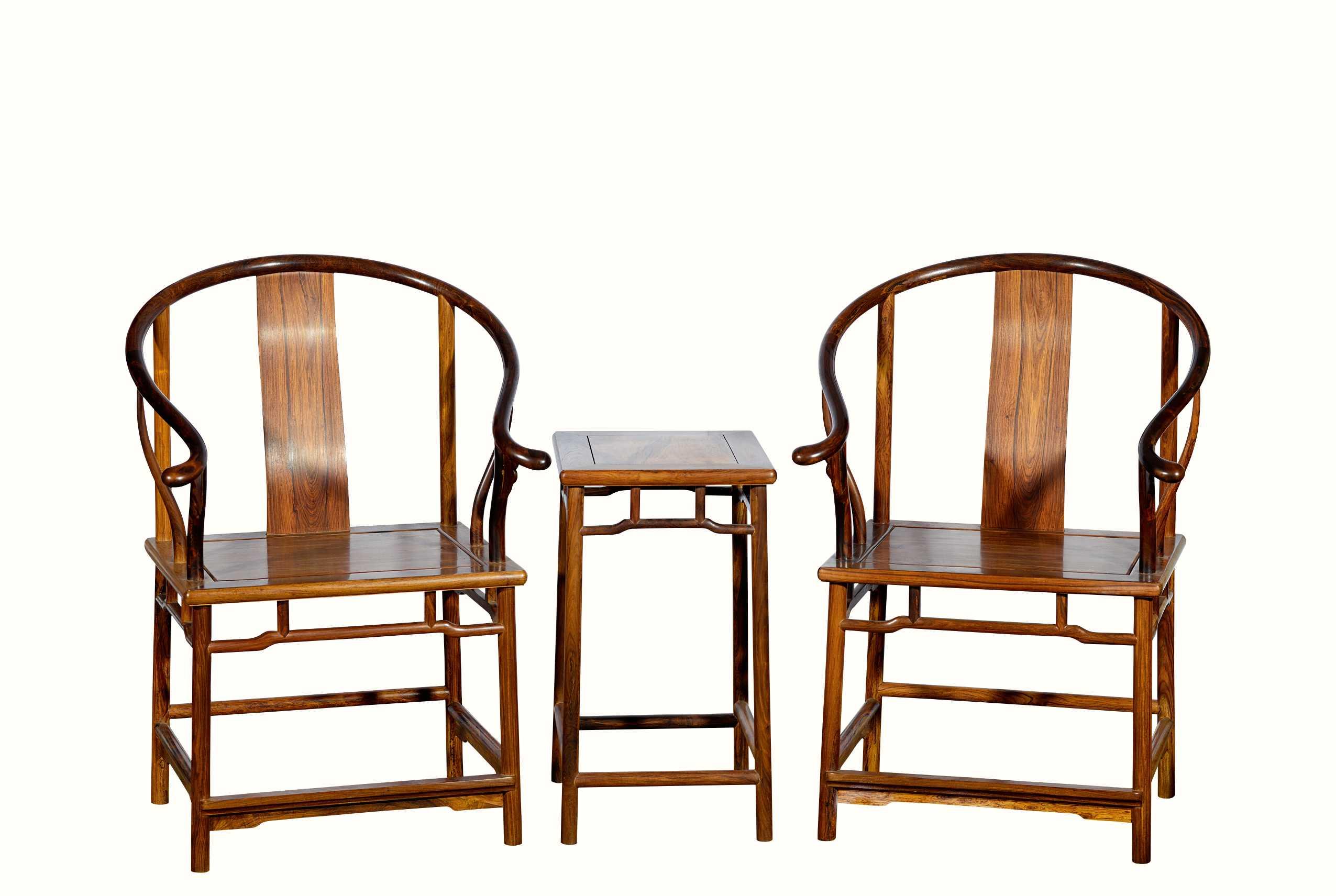 海南黄花梨木圈椅三件套作品拍卖预展