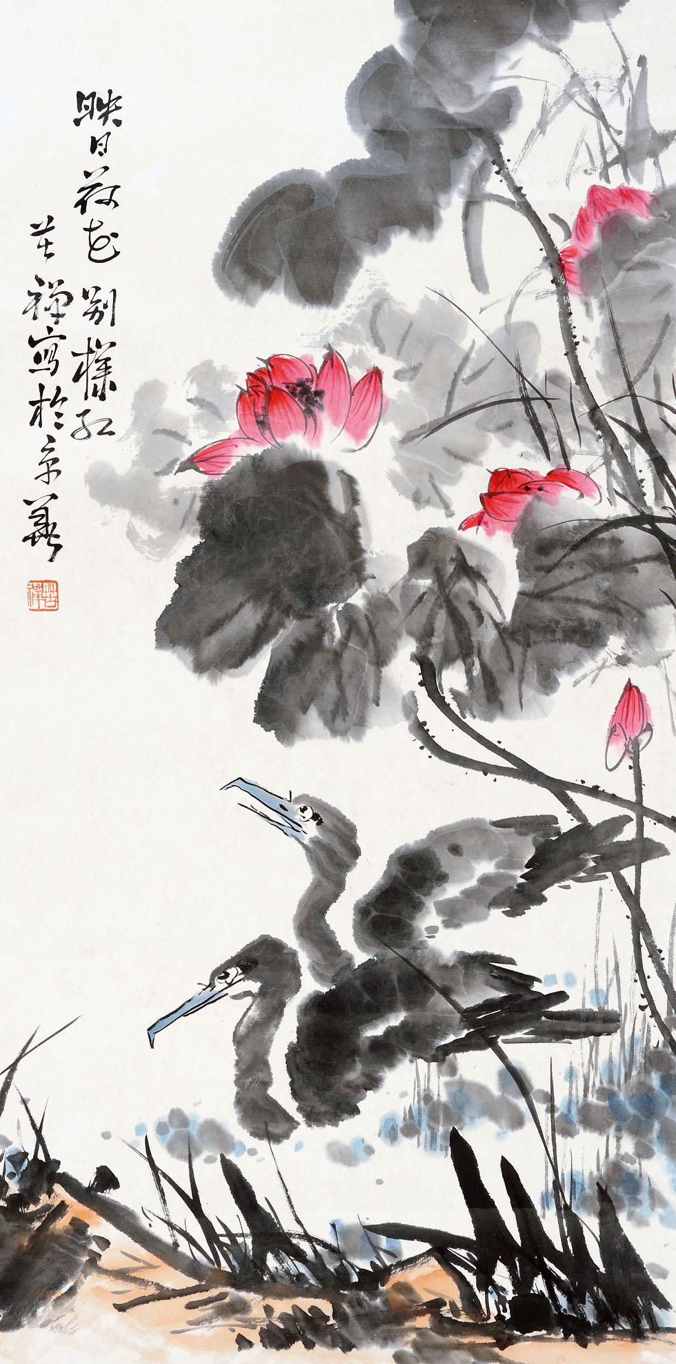0303   李苦禅  花鸟图片