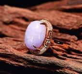 0409  紫罗兰翡翠戒指