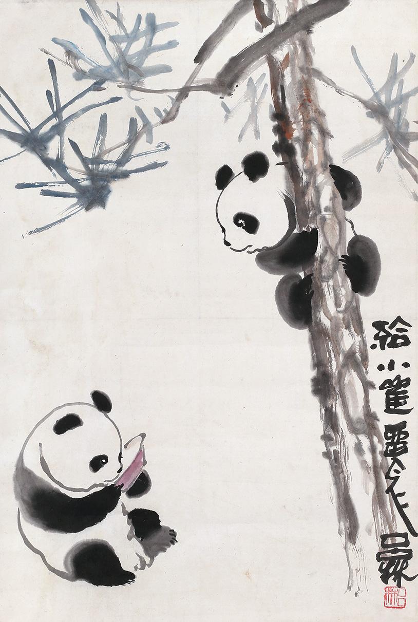 熊猫初级国画画法步骤
