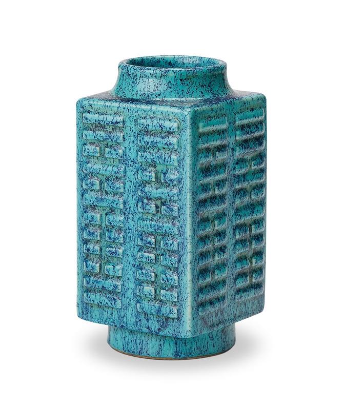清中期 炉均釉琮式瓶